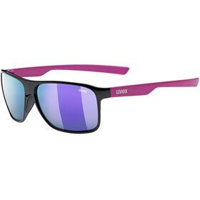 UVEX LGL 33 Pola Cykelbriller, black pink mat/mirror pink